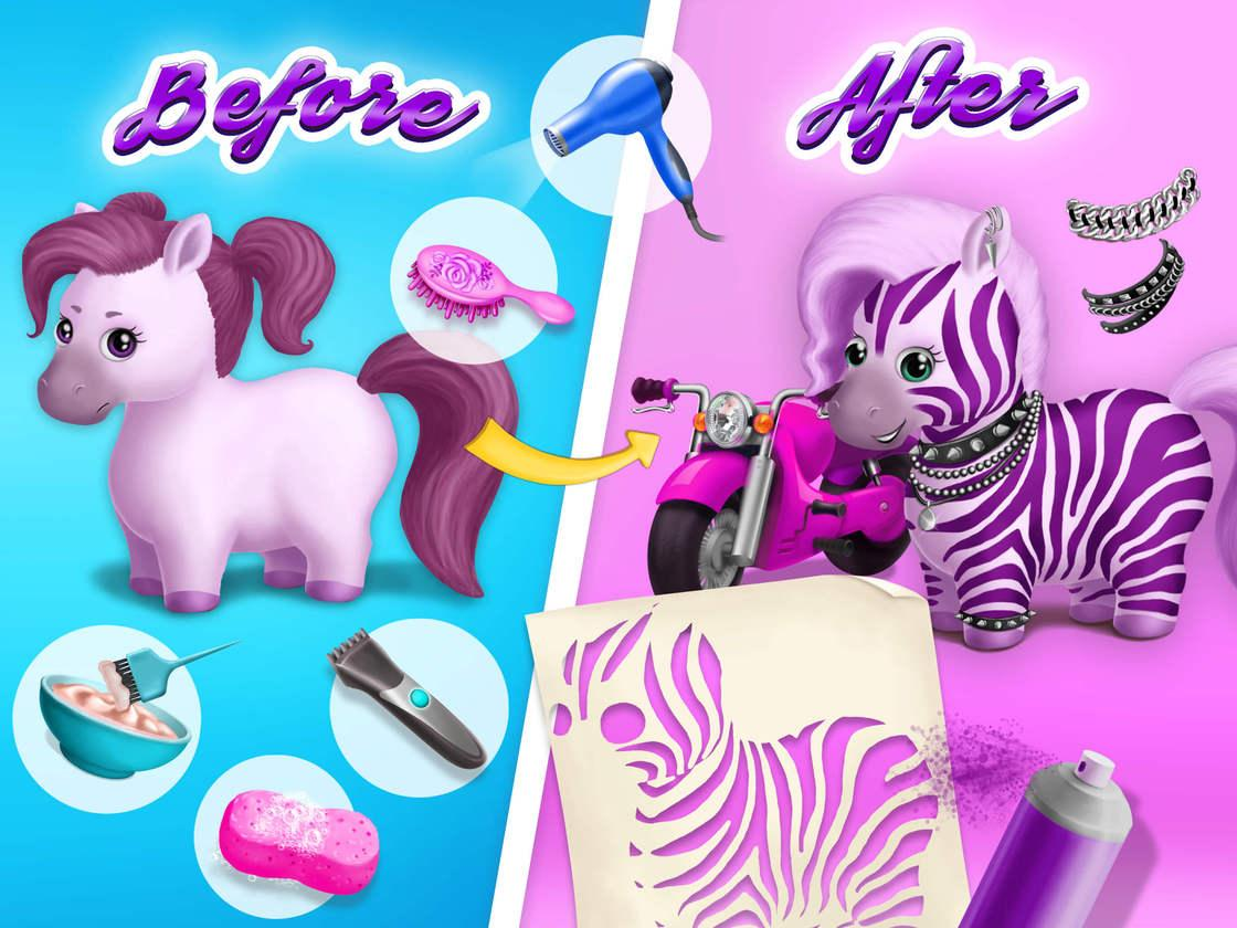 Pony sisters hair salon 2 game created with tutotoons for Hair salon 2