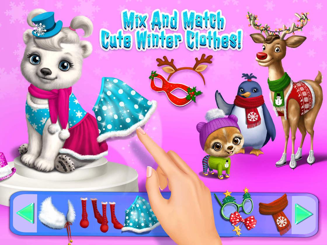 Christmas animal hair salon 2 game created with tutotoons